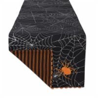 """Dii Halloween Happy Haunting Spooky Spider Reversible Table Runner 14X70"""""""