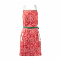 Joyful Snowflakes Jacquard Collection For Everyday Use, Holidays and Dinner Parties, Apron - 1