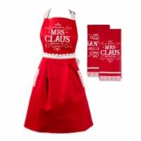 Dii Santa Chef Clause Kitchen, Mrs Claus Chef Kitchen Set, Set Of 3