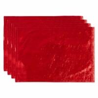 DII Red Velvet Velvet Placemat (Set of 4) - 1