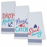 """Dii Fresh Catch Dishtowel Set, 18X28"""", 3 Piece"""