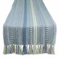 Dii Stonewash Blue Braided Stripe Table Runner