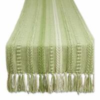 Dii Antique Green Braided Stripe Table Runner