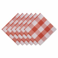 Design Imports CAMZ12368 20 x 20 in. Vintage Red Buffalo Check Napkin - Set of 6