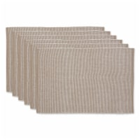 DII Stone & White 2-Tone Ribbed Placemat (Set of 6) - 1