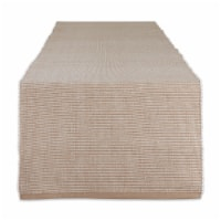 Dii Stone & White 2-Tone Ribbed Table Runner