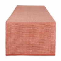Dii Vintage Red & White 2-Tone Ribbed Table Runner - 1