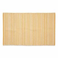 Dii Honey Gold Dobby Stripe Hand-Loomed Rug  2X3 Ft