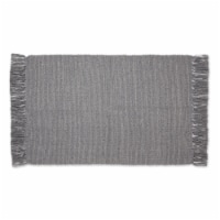 Dii Gray And Off White 2-Tone Ribbed Rug 2X3 Ft