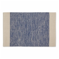 Dii French Blue Variegated Border Hand-Loomed Rug 2X3 Ft