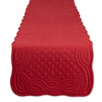 Dii Cranberry Quilted Farmhouse Table Runner - 1