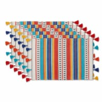 DII Picante Stripe Tassel Placemat Set of 6 - 1