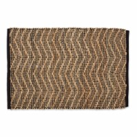 Dii Black With Natural Jute Chevron Hand-Loomed Rug