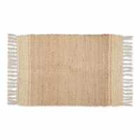 Dii Off White With Natural Jute Stripes Hand-Loomed Rug