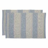 Dii Stonewash Blue Variegated Recycled Yarn Rug  (Set Of 2)
