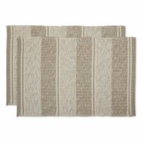 Dii Brown Variegated Recycled Yarn Rug  (Set Of 2)