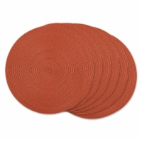 SPICE ROUND PP WOVEN PLACEMAT SET/6