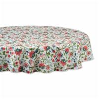 Dii Garden Floral Print Outdoor Tablecloth 60 Round - 1