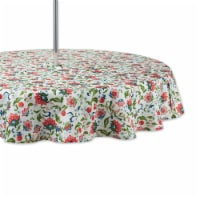 Dii Garden Floral Print Outdoor Tablecloth With Zipper 60 Round - 1