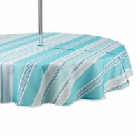Dii Beach House Stripe Print Outdoor Tablecloth With Zipper 60 Round