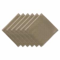 Dii Stone Tonal Lattice Print Outdoor Napkin (Set Of 6)