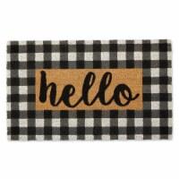 DII Checkers Hello Doormat - 1