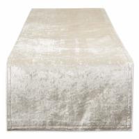 Cream Velvet Table Runner 14X108 - 1