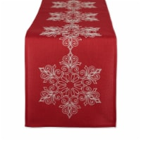 DII Sparkle Snowflakes Embroidered Table Runner 14x70 inches - 1