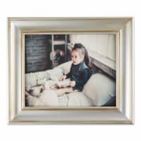 DII 8x10 Antique Silver Rub Farmhouse Picture Frame - 1
