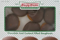 Krispy Kreme Iced Custard Filled Doughnuts 6 Count