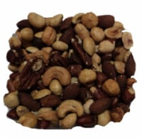 Torn & Glasser Unsalted and Roasted 50% Peanut Mixed Nuts - 1 lb