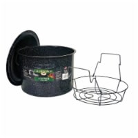 Columbian Home Graniteware Wide Mouth Canner and Rack 12 qt. 3 pc. - Case Of: 1 - Count of: 1
