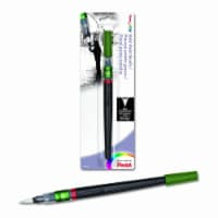 Pentel - Color Brush Pen & Refill Ink Cartridges - Color Brush Pens - Black -�Bold, Carded - 1