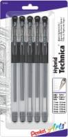 Pentel Arts Hybrid Technica Assorted Ballpoint Pens - Black - 5 pc