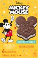 Nestle Mickey Mouse Ice Cream Sandwich 6 Count - 21 fl oz