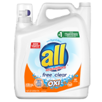 All with Stainlifters Free Clear Oxi Liquid Laundry Detergent