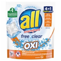 All with Stainlifters Free Clear Oxi Laundry Detergent Pacs