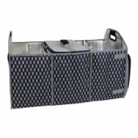 Homz Insulated 3 Section Trunk Organizer Storage Box with Cooler Bag, Gray/Black - 1 Piece