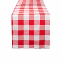 DII Red & White Buffalo Check Table Runner - 1