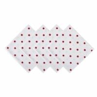 Design Imports Z02034 Polka Dot Napkin - White & Red - Set of 4