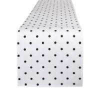 Design Imports Z02043 72 in. Reversible Polka Dot Table Runner - White & Black