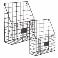 Design Imports Farmhouse File Basket, Bronze - Set of 2