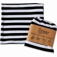 Bucky Roo Black & White Stripe Multi-Use Cover - 1 ct