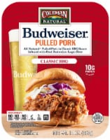 Coleman Natural Foods Budweiser Pulled Pork in Classic BBQ Sauce