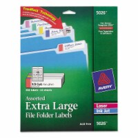 Avery Label,Xl Ff 1/3 Cut,Ast 5026 - 1