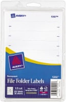 Avery Permanent 1/3-Cut File Folder Label - White