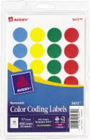 Avery Removable Color Coding Round Labels 1008 Pack