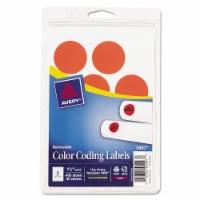Avery Label,1.25rnd,400/Pk,Nerd 05497 - 1