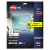 Avery Label,Ep,Add,Bdr,Inkjt,Wh 6529 - 1