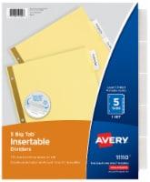 Avery Big Tab Insertable Dividers - 5 pk